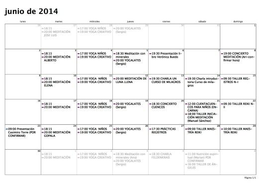 Calendario — Mes — 01:06:14 a 30:06:14